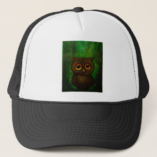 Owl sad eyes trucker hat