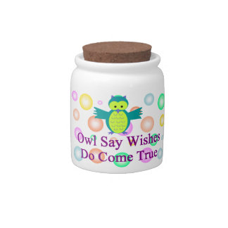 Owl Say Dreams Do Come True Small Teapot Candy Dish
