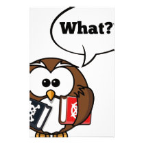 Owl Says What Stationery