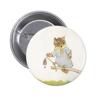 Owl Schoolmarm Rings Bluebell Button