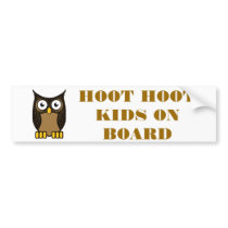 OWL SCOWL- KIDS ON BOARD BUMPER STICKER