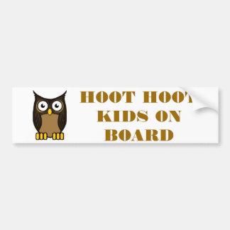 OWL SCOWL- KIDS ON BOARD BUMPER STICKER