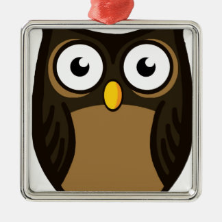OWL SCOWL METAL ORNAMENT