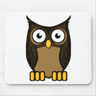 OWL SCOWL MOUSE PAD