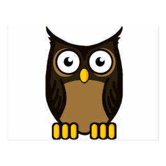 OWL SCOWL POSTCARD