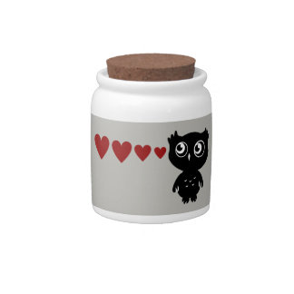 Owl Sees Love II Candy Jars