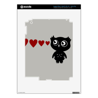 Owl Sees Love II Decal For iPad 3