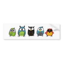 Owl Series: Family Bumper Sticker