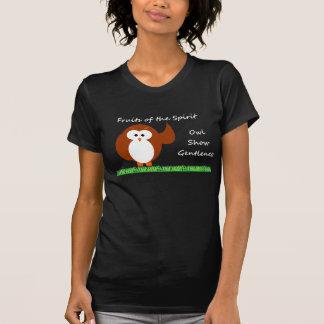 Owl Show Gentleness Ladies Casual Scoop T-Shirt