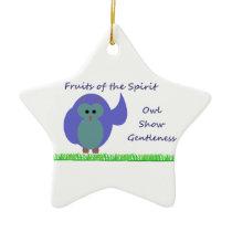 Owl Show Gentleness Star Ornament