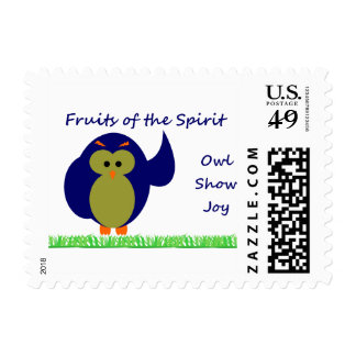 """Owl Show Joy Small, 1.8"""" x 1.3"""", $0.46 (1st Class Stamps"""