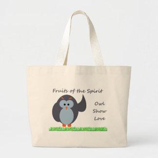 Owl Show Love Jumbe Tote Jumbo Tote Bag