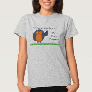 Owl  Show Patience Women's Hanes ComfortSoft® T-Sh T Shirt