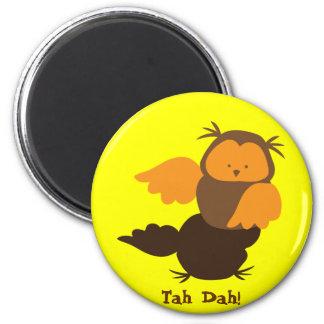 Owl showoff 2 inch round magnet