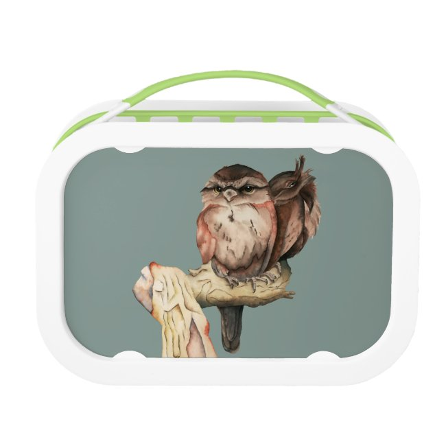Owl Siblings Watercolor Portrait