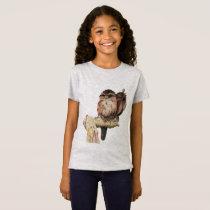 Owl Siblings Watercolor Portrait T-Shirt