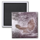 Owl Silent Flight Magnet