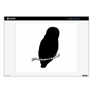 """Owl Silhouette Decal For 14"""" Laptop"""