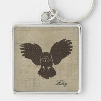 Owl Silhouette Keychain