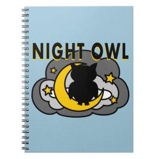 Owl Sitting on Moon Notebook