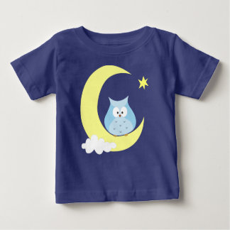 Owl sitting on the Moon Baby T-Shirt