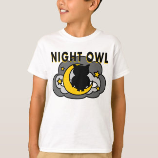 Owl Sitting on the Moon T-shirt
