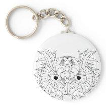 Owl Sketch Keychain