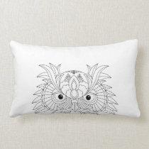 Owl Sketch Lumbar Pillow