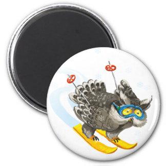 Owl ski magnet