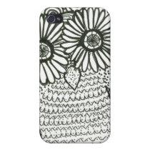Owl Sktetch iPhone 4 Case