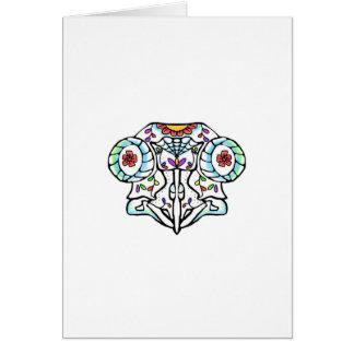 Owl Skull: Day of the Dead Card