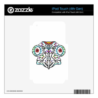 Owl Skull: Day of the Dead Decal For iPod Touch 4G