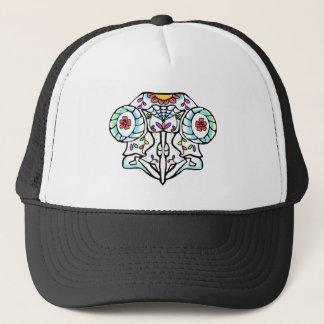 Owl Skull: Day of the Dead Trucker Hat