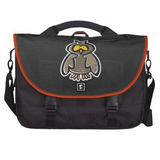 Owl; Sleek Laptop Messenger Bag