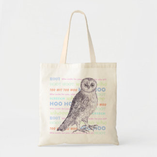 Owl Sounds / Owl Noises Barred Owl or Spotted Owl Canvas Bags