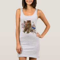 Owl Spirit Animal Tank Dress