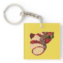 Owl Square Keychain