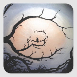 Owl Square Sticker