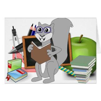 Owl Squirrel  Smart School Teacher Destiny Class Greeting Card