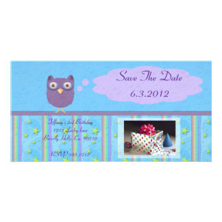 Owl Star Birthday Celebration Card