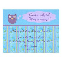 Owl Star Birthday Celebration Flyer