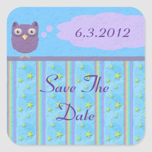 Owl Star Birthday Celebration Stickers
