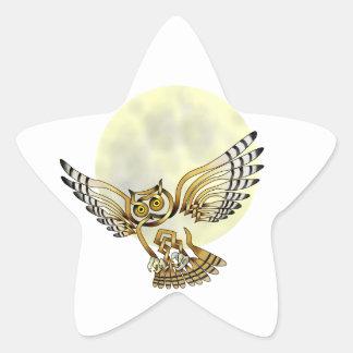 Owl Star Sticker