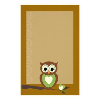 Owl Customized Stationery