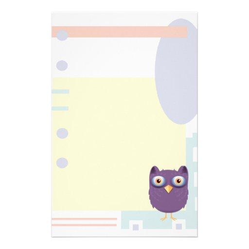 Owl Stationery Design