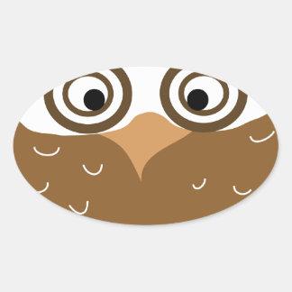 Owl Oval Sticker