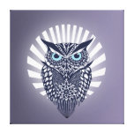 owl stretched canvas prints