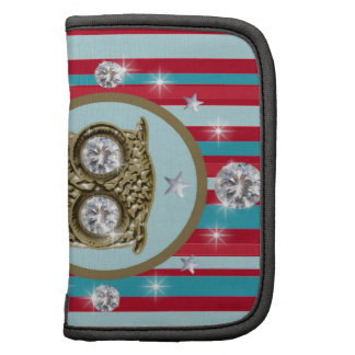 Owl, stripes and diamonds planner