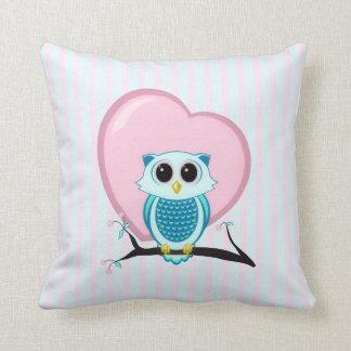 Owl Stripes & Heart American MoJo Pillows