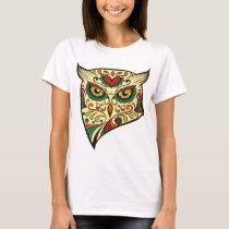 Owl Sugar Skull T-Shirt